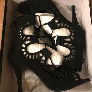 Choies Black Lace up Gladiator High-heel Sandals
